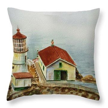 Lighthouse Point Reyes California Throw Pillow