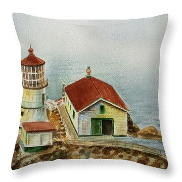 Lighthouse Point Reyes California Throw Pillow