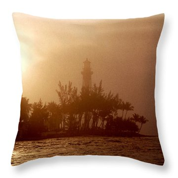 Lighthouse Point Sunrise Throw Pillow