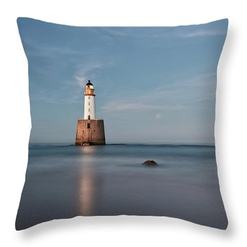 Throw Pillow featuring the photograph Lighthouse Twilight by Grant Glendinning