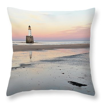 Throw Pillow featuring the photograph Lighthouse Sunset - Rattray Head by Grant Glendinning