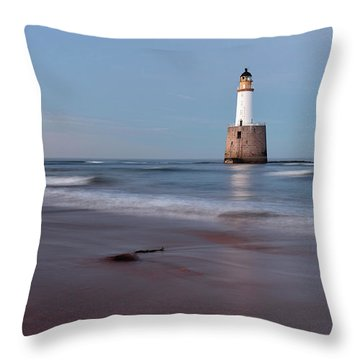 Throw Pillow featuring the photograph Lighthouse by Grant Glendinning