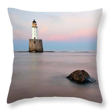 Throw Pillow featuring the photograph Lighthouse Rattray by Grant Glendinning