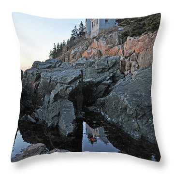 Throw Pillow featuring the photograph Lighthouse Reflection by Glenn Gordon