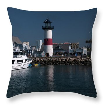 Throw Pillow featuring the photograph Lighthouse by Rod Wiens