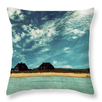 Lighthouse Scenery At List Throw Pillow by Hannes Cmarits