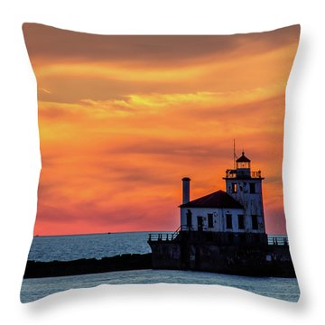 Lighthouse Silhouette Throw Pillow