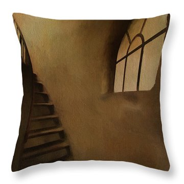 Throw Pillow featuring the photograph Lighthouse Stairs by Jim  Hatch