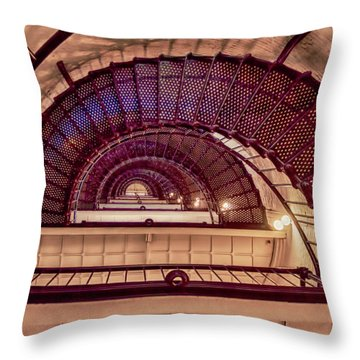Lighthouse Stairwell Throw Pillow