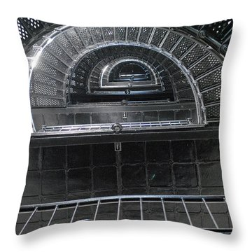Lighthouse Steps Throw Pillow by Dan Williams