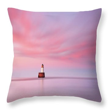 Throw Pillow featuring the photograph Lighthouse Sunset by Grant Glendinning