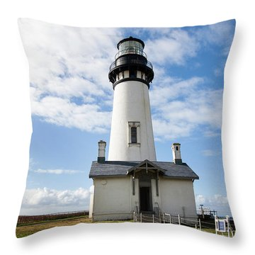 Throw Pillow featuring the photograph Lighthouse View by Mary Jo Allen