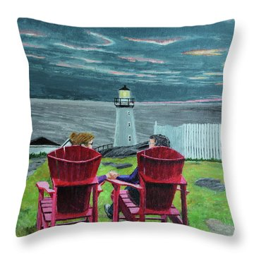 Lighthouse Lovers Throw Pillow