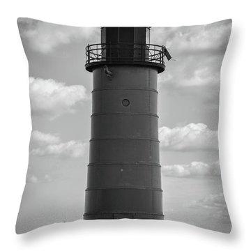 Lighthouses Of Milwaukee Throw Pillow