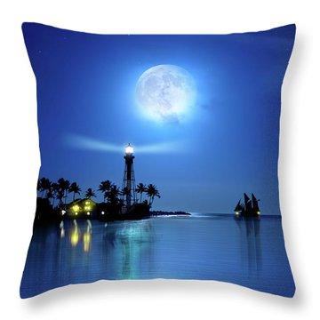 Lighting The Lighthouse Throw Pillow