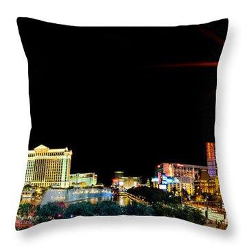 Lighting Up Vegas Throw Pillow