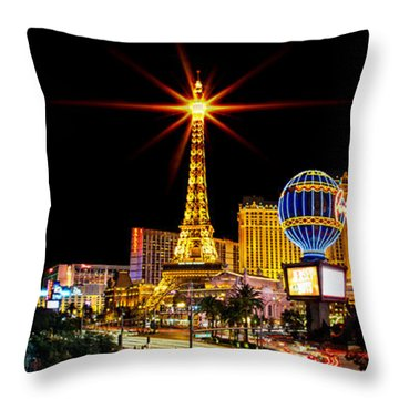 Lighting Up Vegas Throw Pillow by Az Jackson
