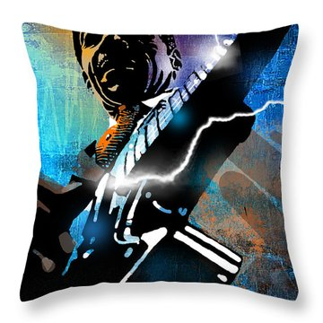 Lightnin Slim Throw Pillow by Paul Sachtleben