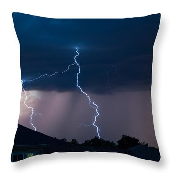 Lightning 2 Throw Pillow