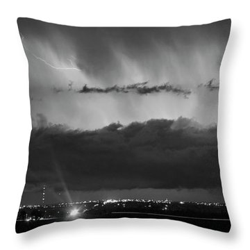 Lightning Cloud Burst Black And White Throw Pillow by James BO  Insogna