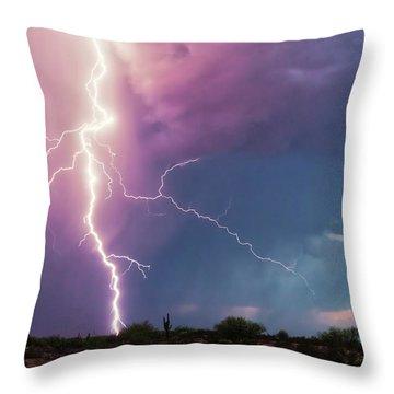 Throw Pillow featuring the photograph Lightning Dancer by Rick Furmanek