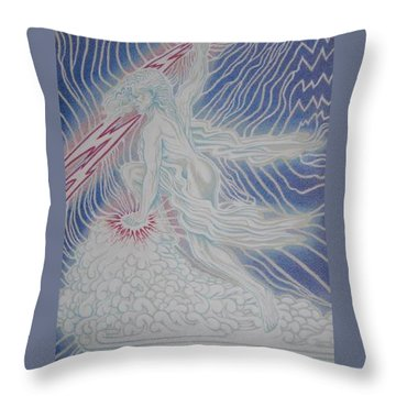 Lightning Goddess Throw Pillow