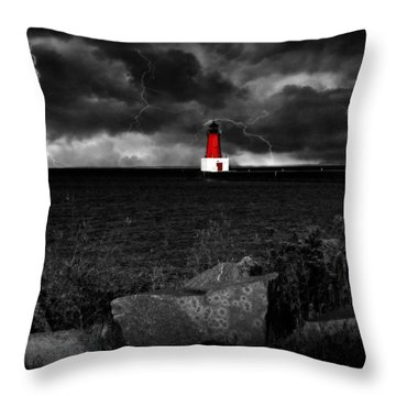 Lightning House Throw Pillow