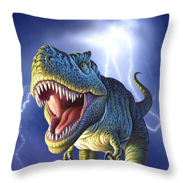 Lightning Rex Throw Pillow