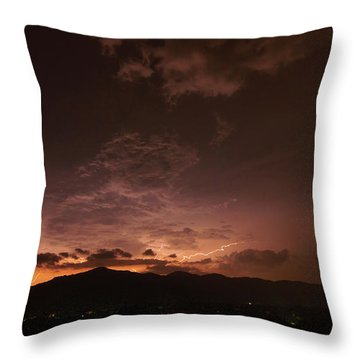 Lightning Streaks  Throw Pillow