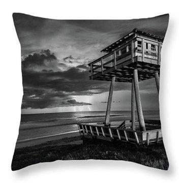 Lightning Watch Tower Throw Pillow