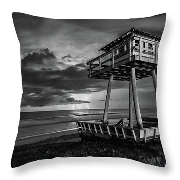 Lightning Watch Tower Throw Pillow