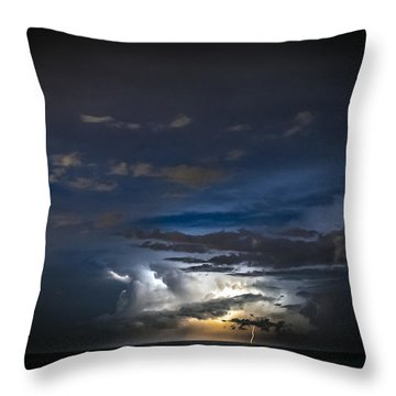 Lightning's Water Dance Throw Pillow