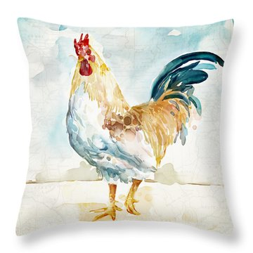 Lightrooster Throw Pillow by Mauro DeVereaux