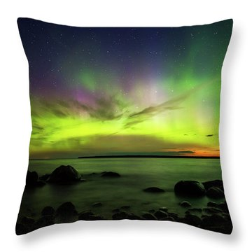 Lights 2 Throw Pillow