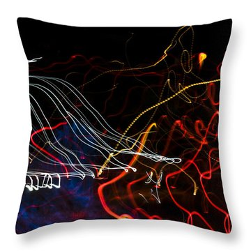 Lights Abstract1 Throw Pillow by Svetlana Sewell