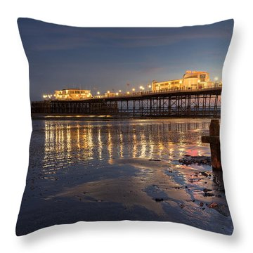 Lights At Dusk Throw Pillow by Hazy Apple
