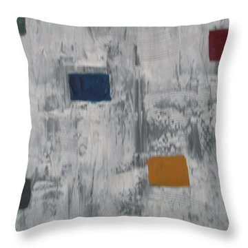 Lights In A Blizzard Throw Pillow