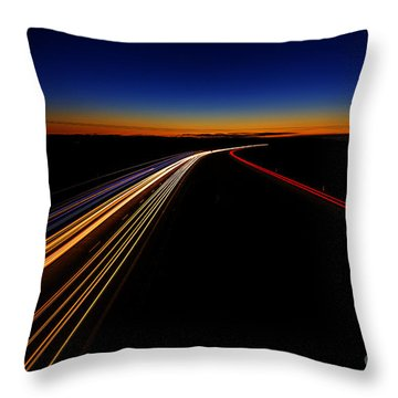 Lights In The Night Throw Pillow