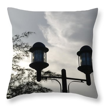 Lights In The Sky Throw Pillow by Rob Hans