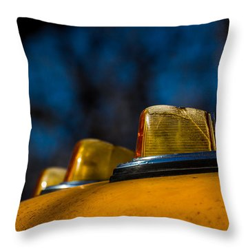 Throw Pillow featuring the photograph Lights by Jay Stockhaus