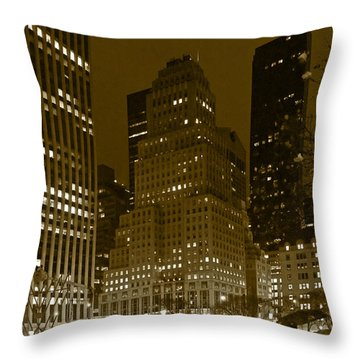 Lights Of 5th Ave. Throw Pillow