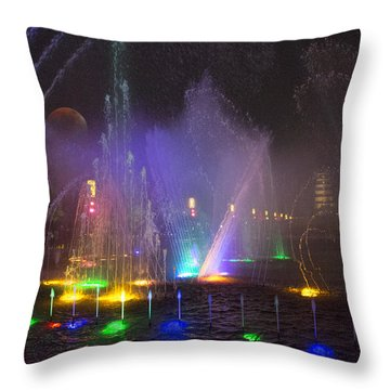 Lights Of A Thousand Wishes Throw Pillow