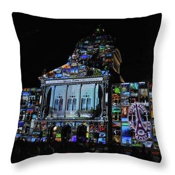 Lights Of Bern Throw Pillow