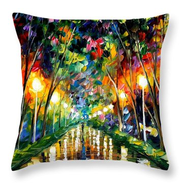 Lights Of Hope Throw Pillow