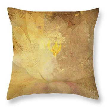 Throw Pillow featuring the photograph Lights On Lily by Traci Cottingham