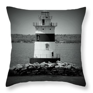 Lights Out-bw Throw Pillow