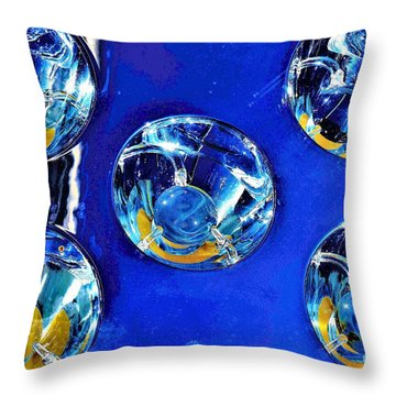 Lights Under Glas Throw Pillow