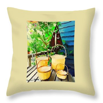 Lightship Baskets And An Old Sailboat Windvane Throw Pillow