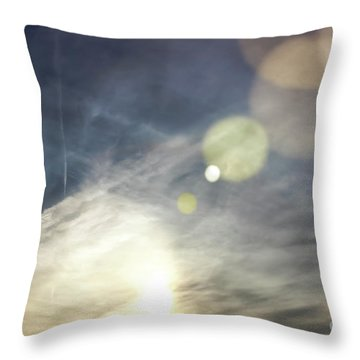 Throw Pillow featuring the photograph Lightshow by Colleen Kammerer