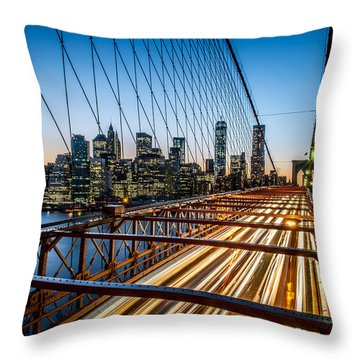 Lightwave Throw Pillow